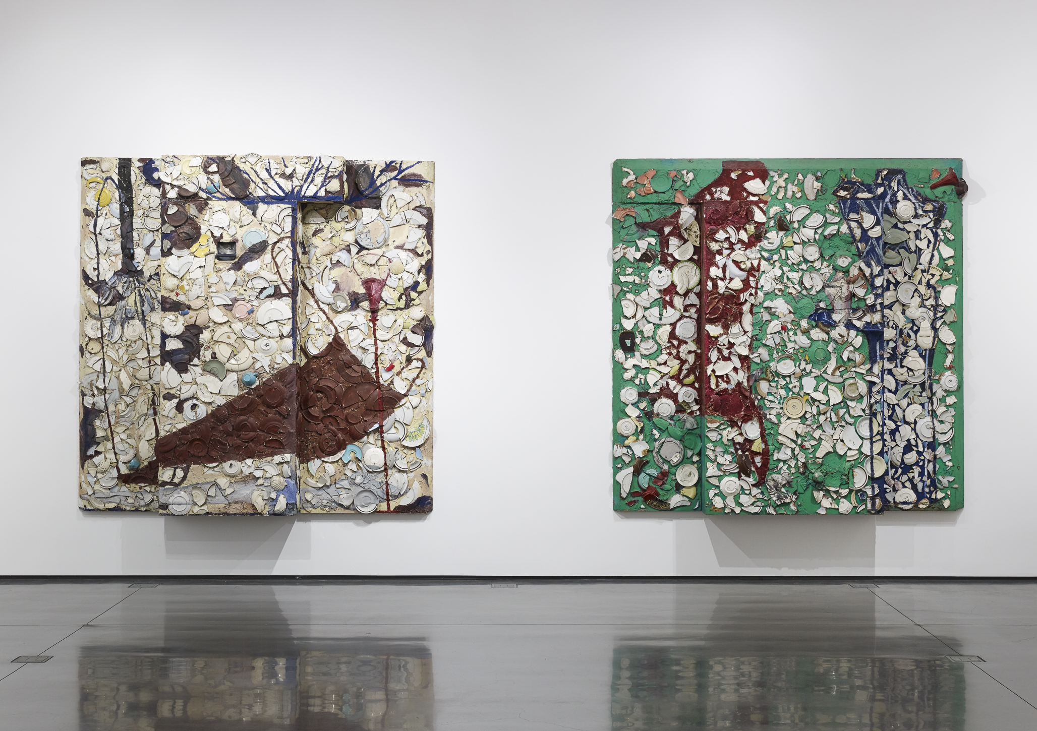 Installation view: Julian Schnabel Plate Paintings 197886, 2016. Photo:  Tony Prikryl