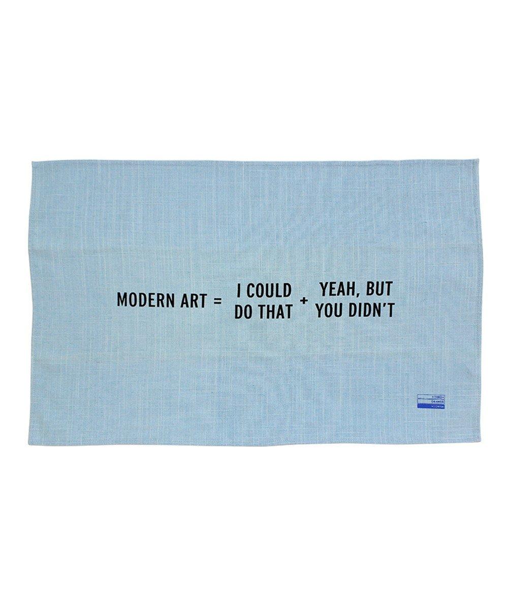 Modern art tea towel craig damrauer tdds