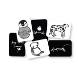 Black white collection art cards for baby 9