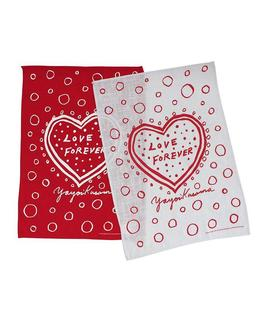 Love forever tea towel set yayoi kusama third drawer down studio web