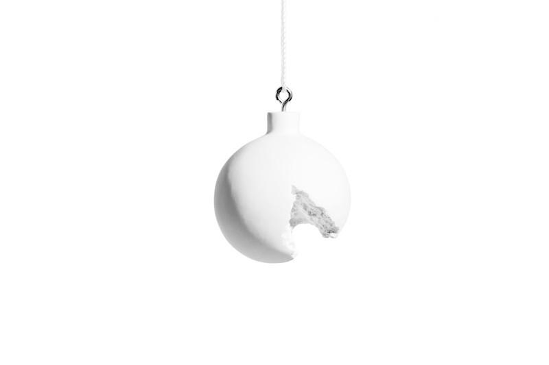 Broken ornament on white    shop