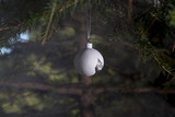 Broken ornament in tree   shop